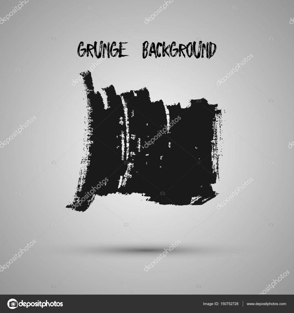 Schwarz Grunge-Design-Element, Box, Rahmen für Text. Handgezeichnete ...