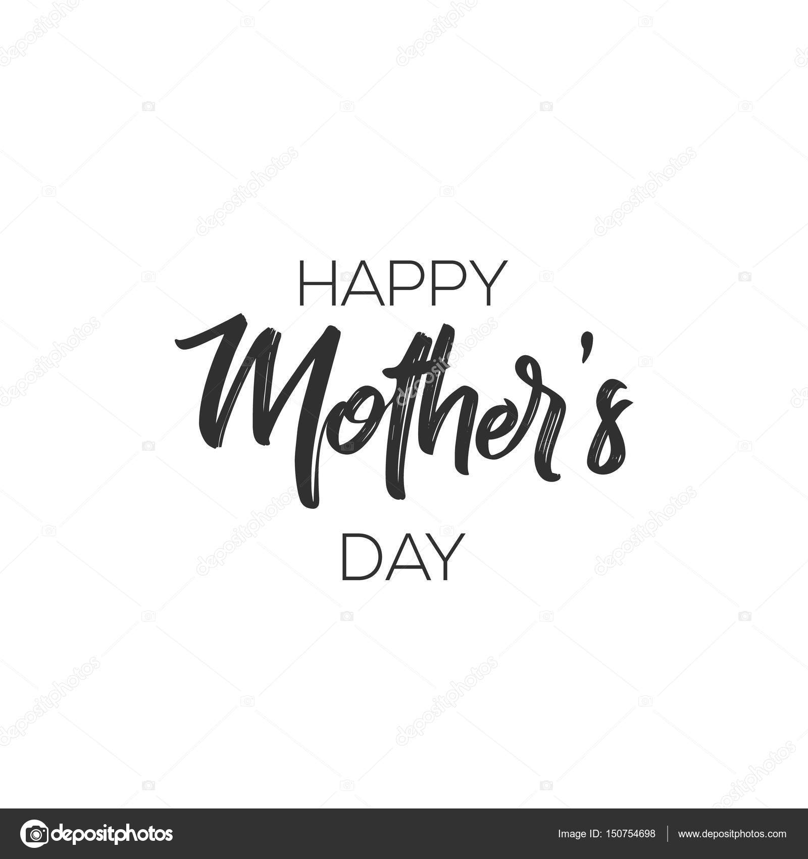 Happy Mothers Day Calligraphy Background. Design for flyer, card ...