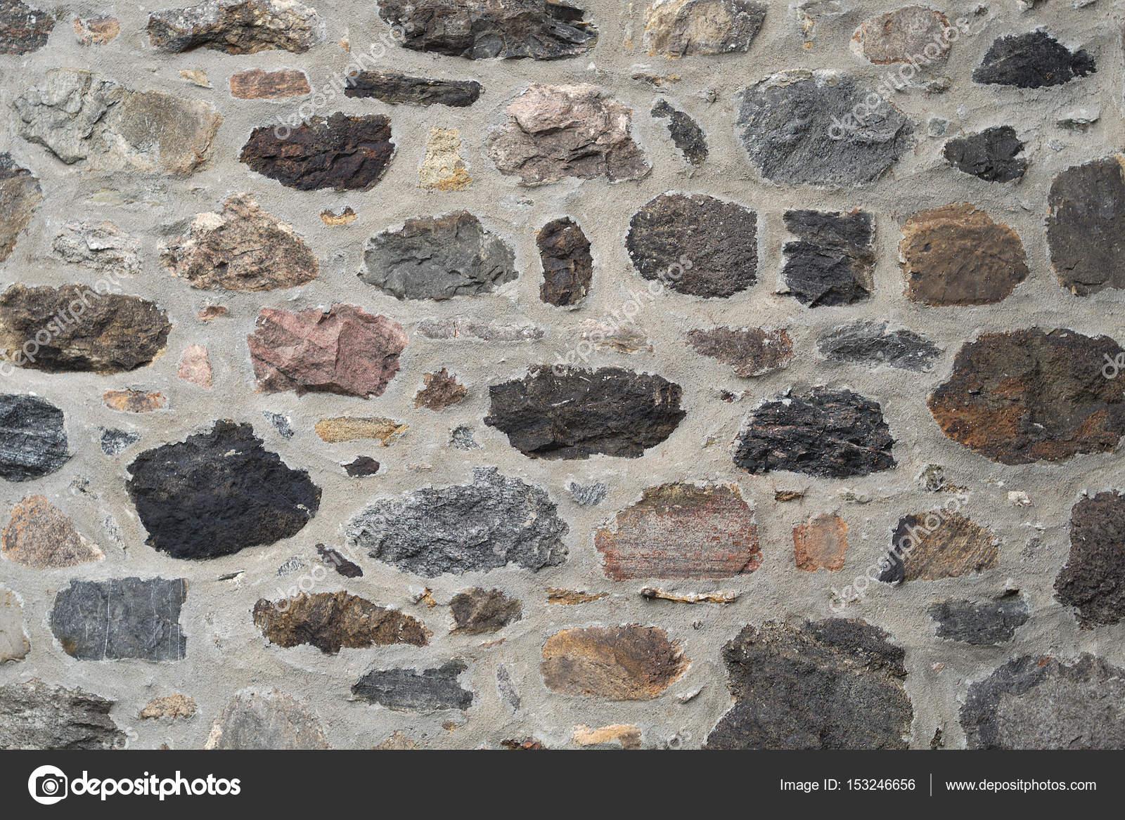 stein und beton-wand, felsen farbe feldsteinen textur hintergrund