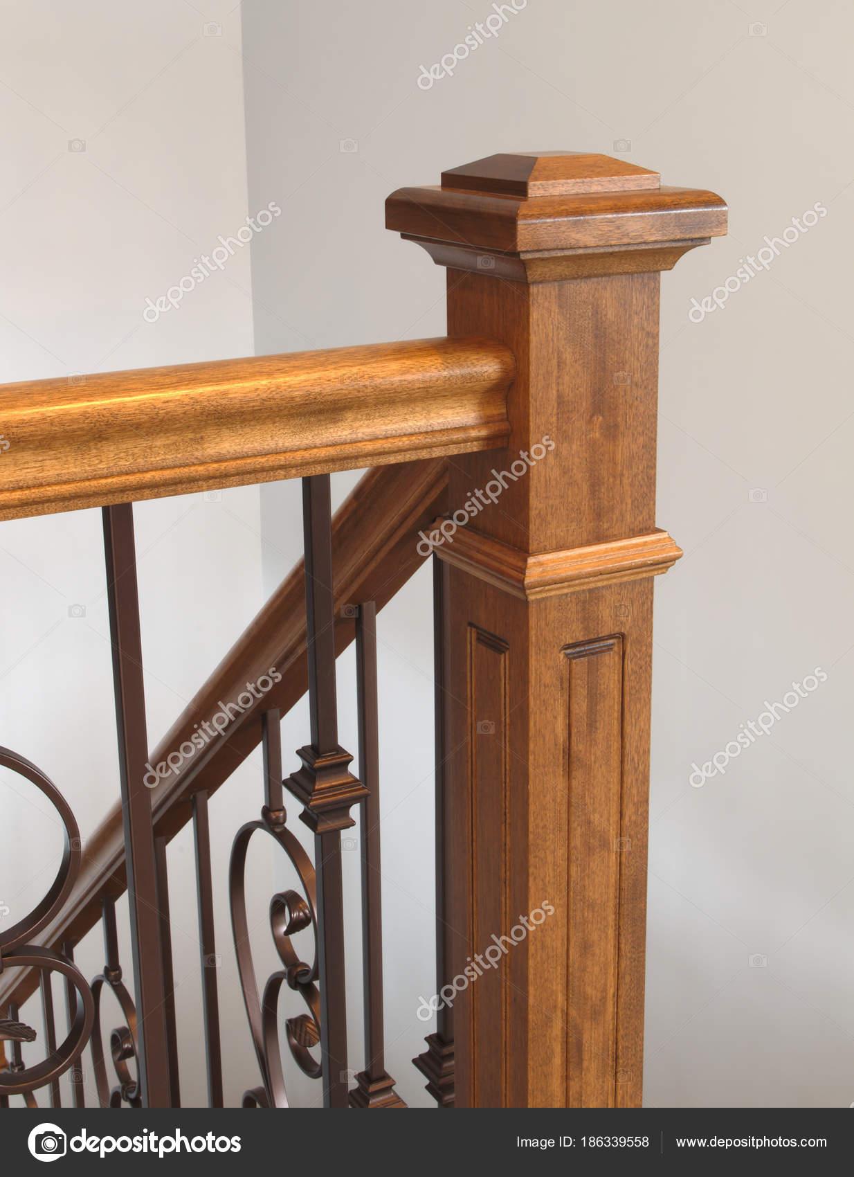 Escaleras De Madera Newel Barandilla Escalera Home Interior Clasico