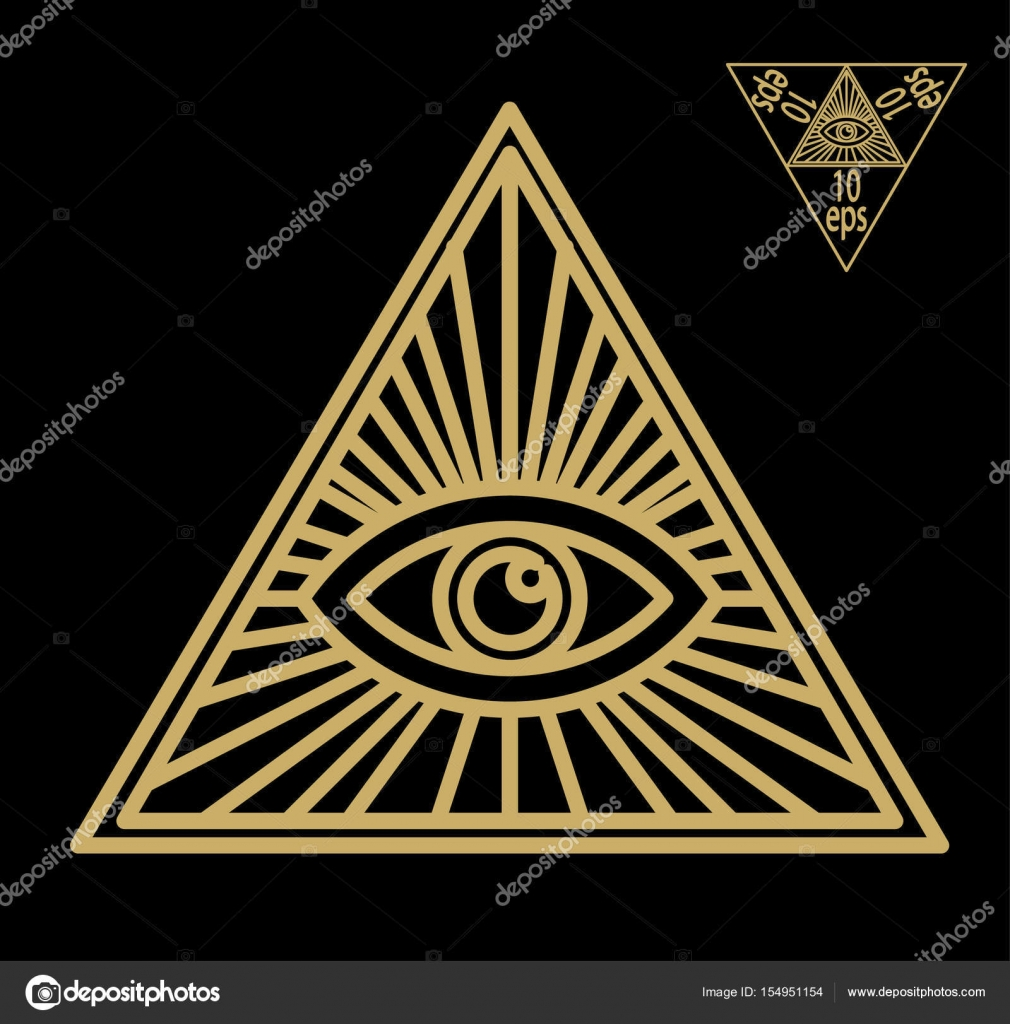 All seeing eye or radiant delta masonic symbol symbolizing the all seeing eye or radiant delta masonic symbol symbolizing the great architect of the universe watching the works of freemasons depicted as the eye biocorpaavc Choice Image