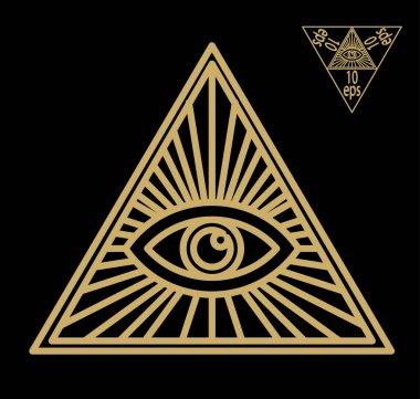 All-seeing eye, or radiant delta - Masonic symbol, symbolizing the Great Architect of the Universe,