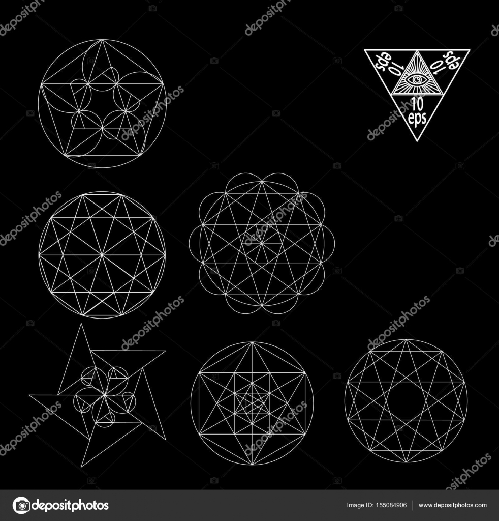 Sacred geometry symbols and signes vector illustration hipster sacred geometry symbols and signes vector illustration hipster tattoo flower of life symbol buycottarizona