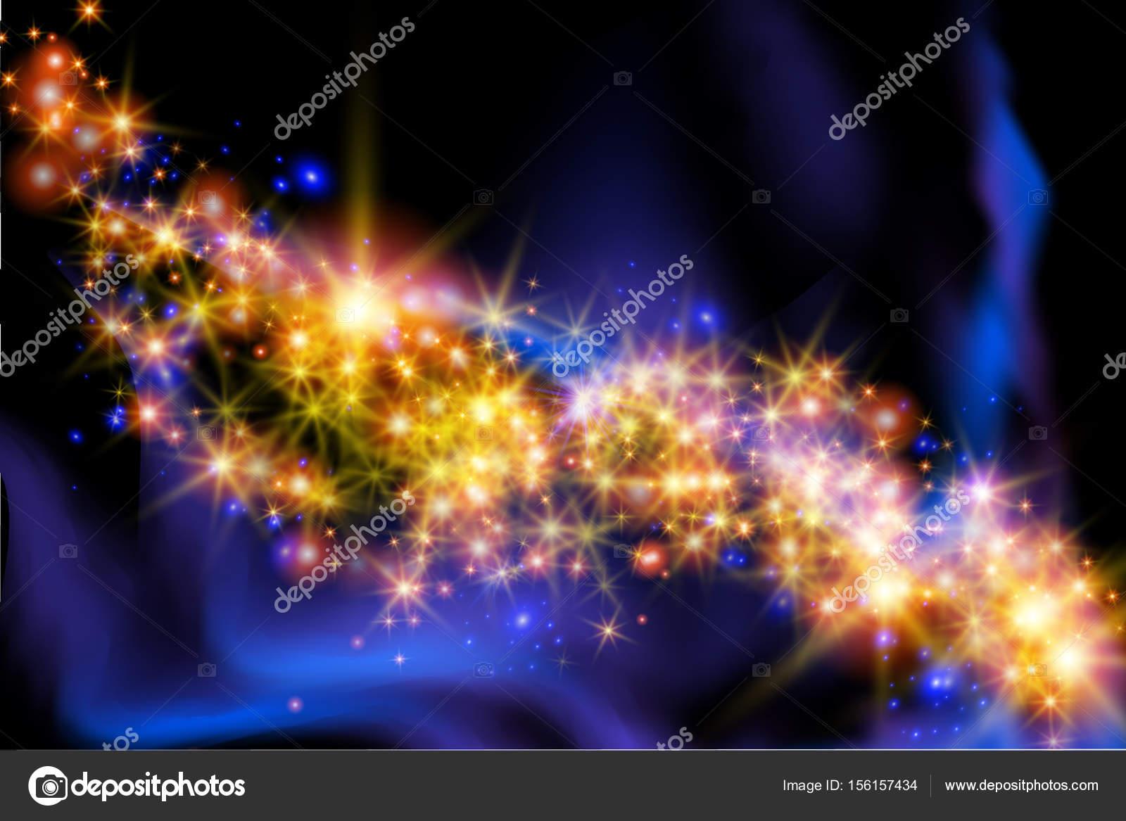 Stella Di Natale Luce.Una Magica Stella Di Natale Sulla Via Lattea E Un Realistico Effetto
