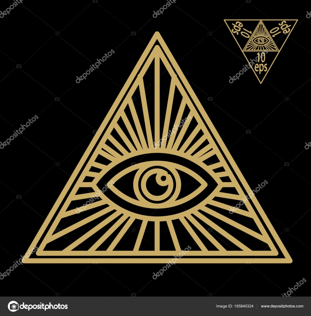 All seeing eye or radiant delta masonic symbol symbolizing the all seeing eye or radiant delta masonic symbol symbolizing the great architect of the universe watching the works of freemasons depicted as the eye buycottarizona Images