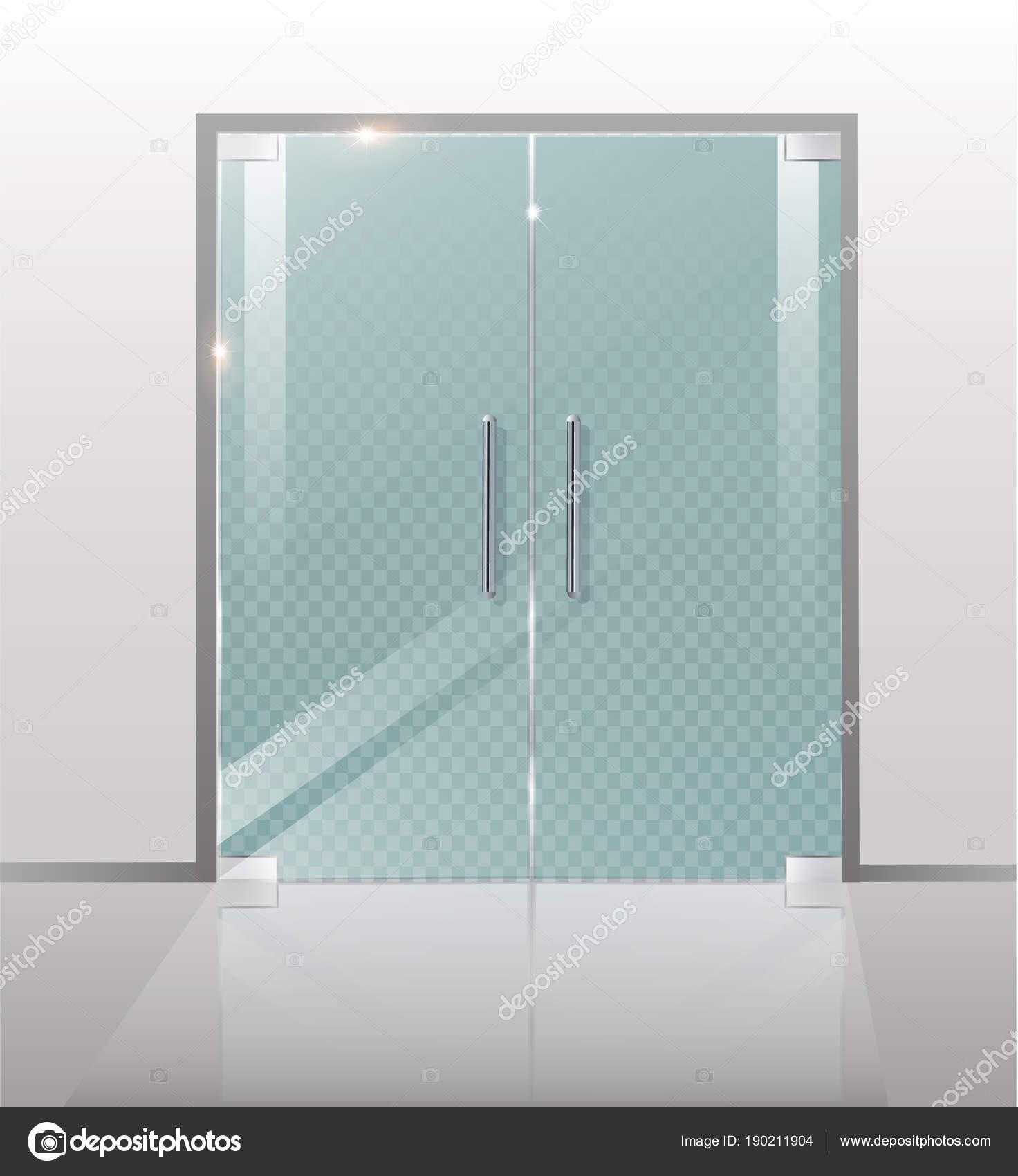 Doble puertas de cristal para el centro comercial o la for Puertas de cristal para oficina