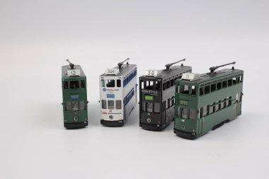 Tram isolated on white background.