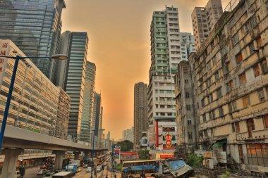 the Hong Kong downtown , kwun tong District