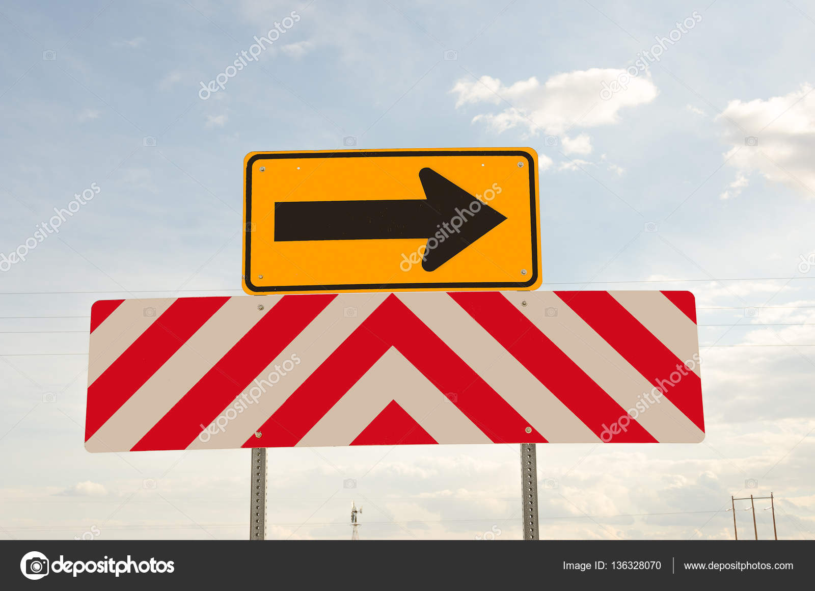 US Warning Signs for Drivers — Stock Photo © mtsue #136328070