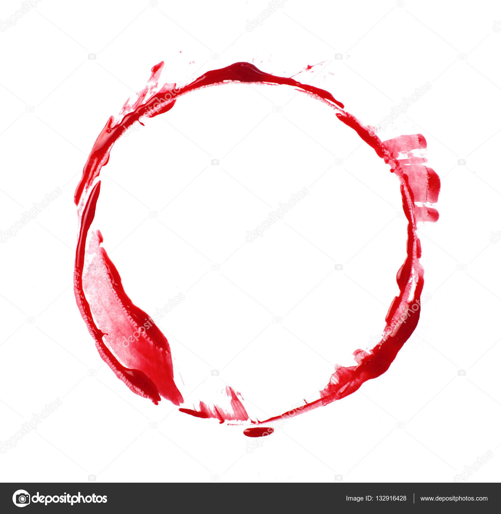 how to make a circle with blood