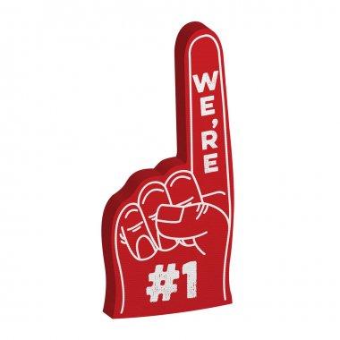 Number 1 fan foam hand
