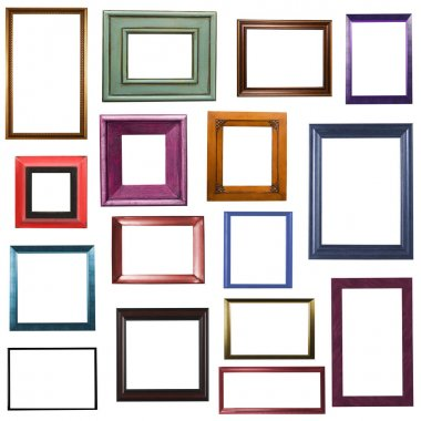Picture frame bungle on white