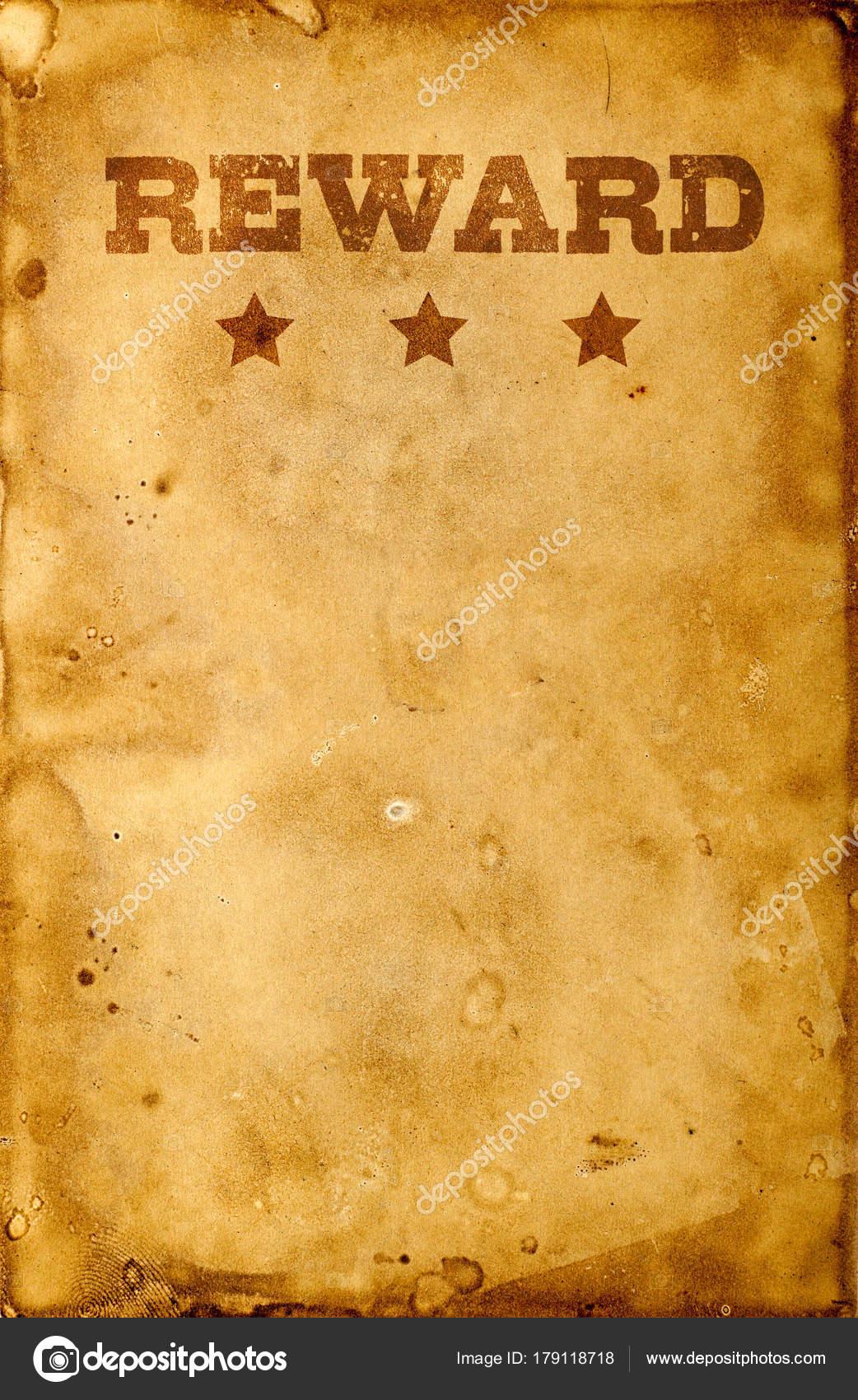 reward poster on white stock photo goir 179118718