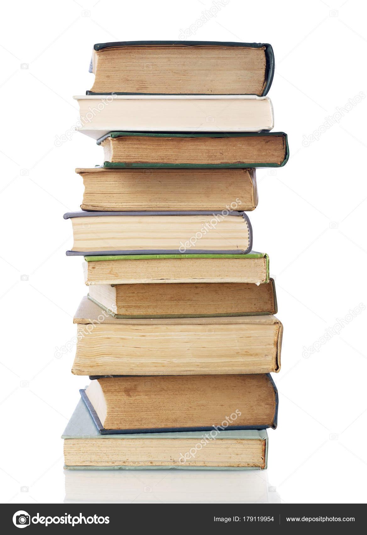 book stack on white stock photo goir 179119954