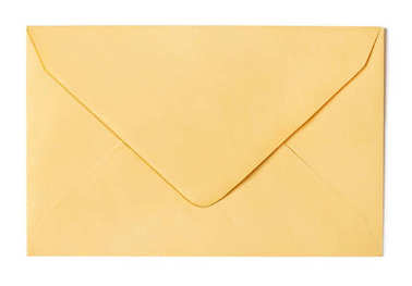 Brown envelope isolated on white stock vector