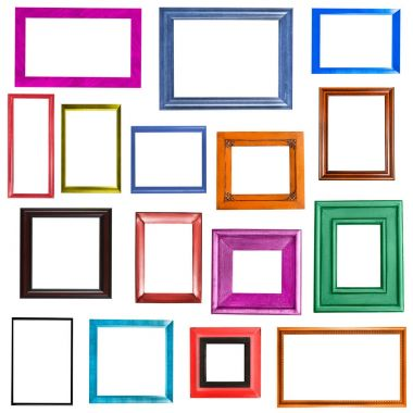Multi-colored picture frames collection