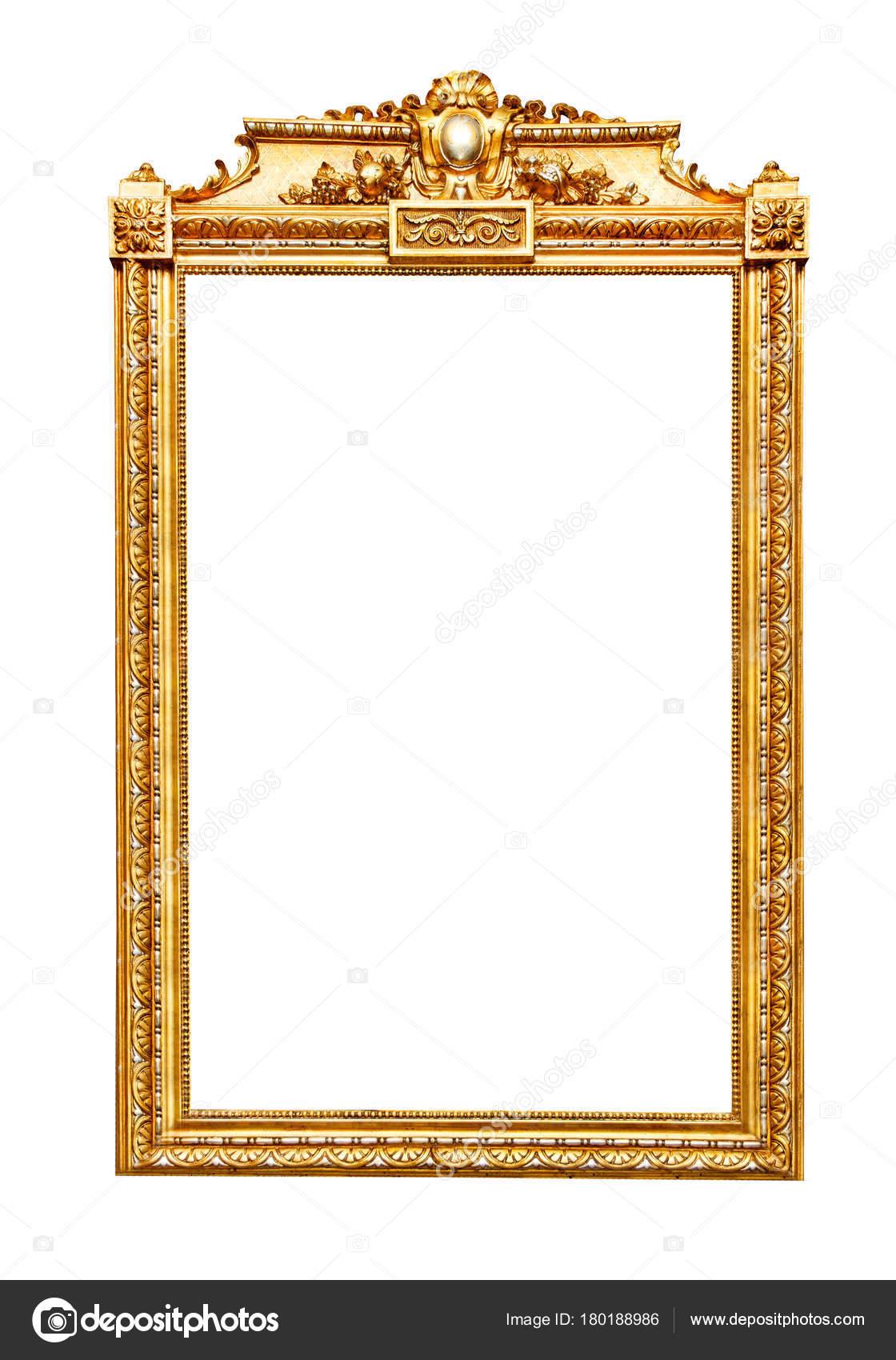 marco dorado sobre blanco — Foto de stock © Goir #180188986