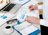 Accounting concept closeup
