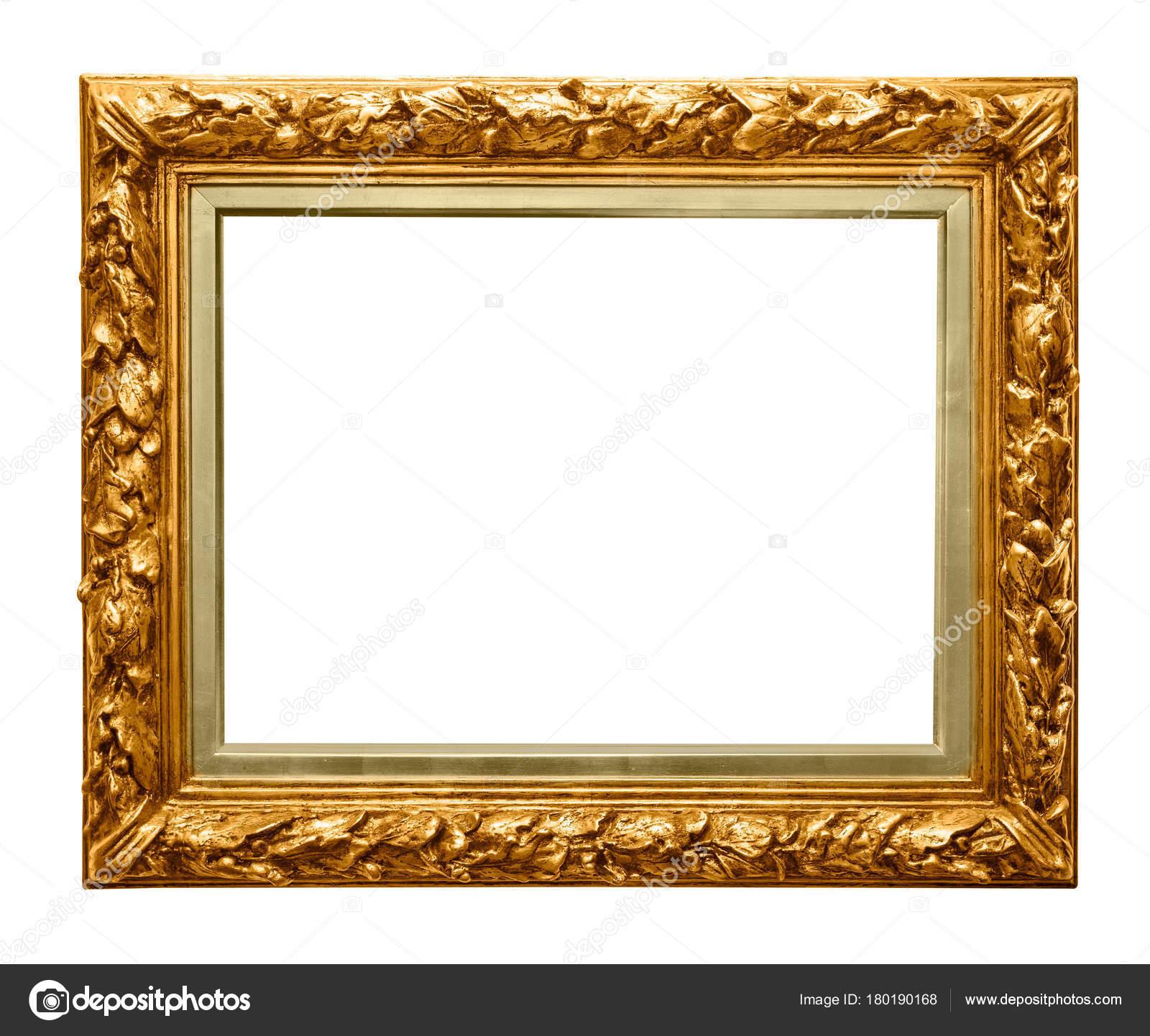 Goldener Rahmen auf weiß — Stockfoto © Goir #180190168
