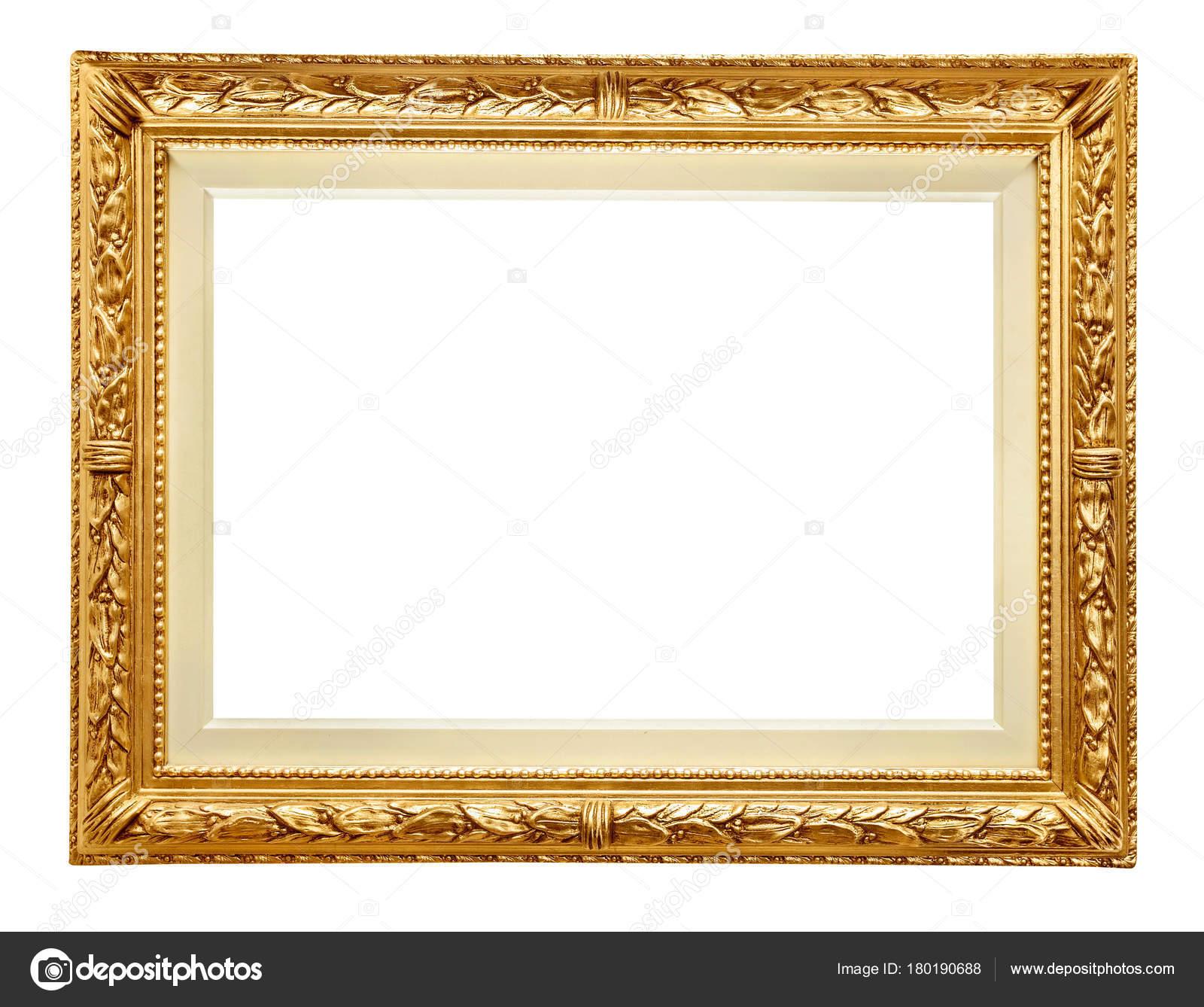 Goldener Rahmen auf weiß — Stockfoto © Goir #180190688
