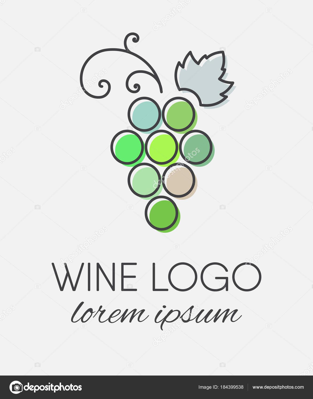 Marcos Para Hacer Logos Elemento De Diseño De Logo De Uvas