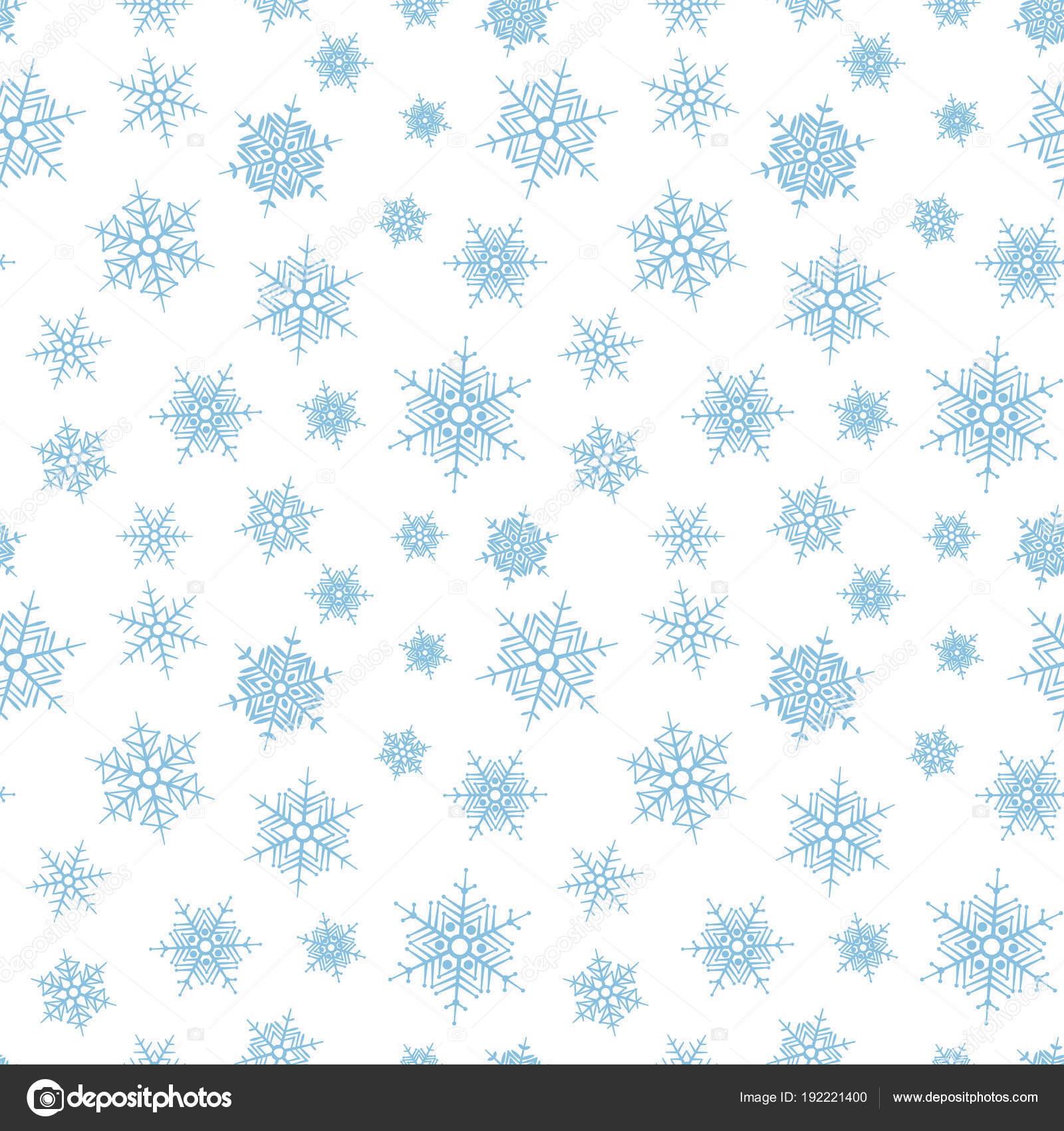 Resumen patrón de caer copos de nieve — Vector de stock © ekmelica ...