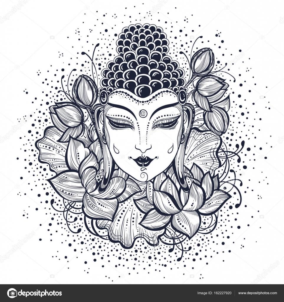 prachtige boeddha gezicht hoog gedetailleerde