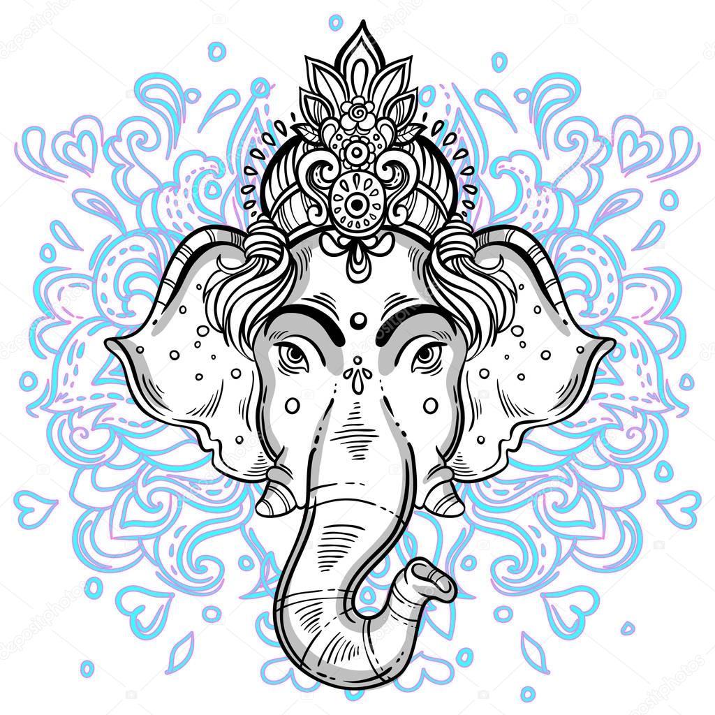 Textile Stock Distributors Mail: Seigneur Ganesha Dessinés à La Main Des Illustrations