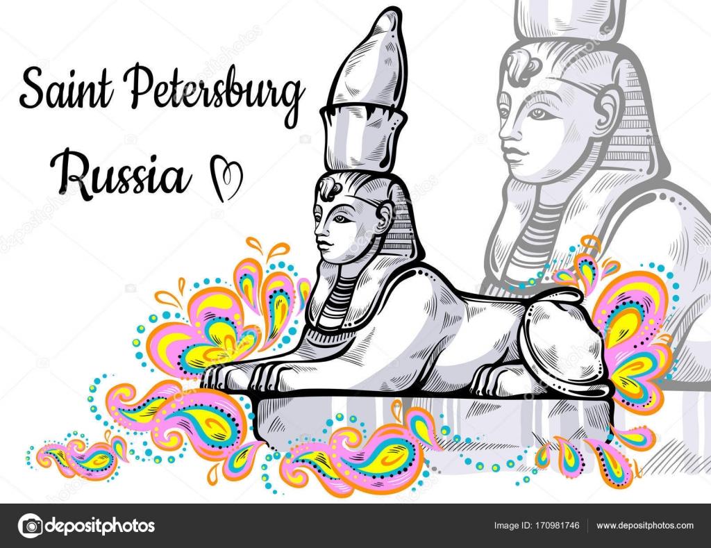 Sammlung der Welt-berühmten Wahrzeichen. Russland, St. Petersburg ...
