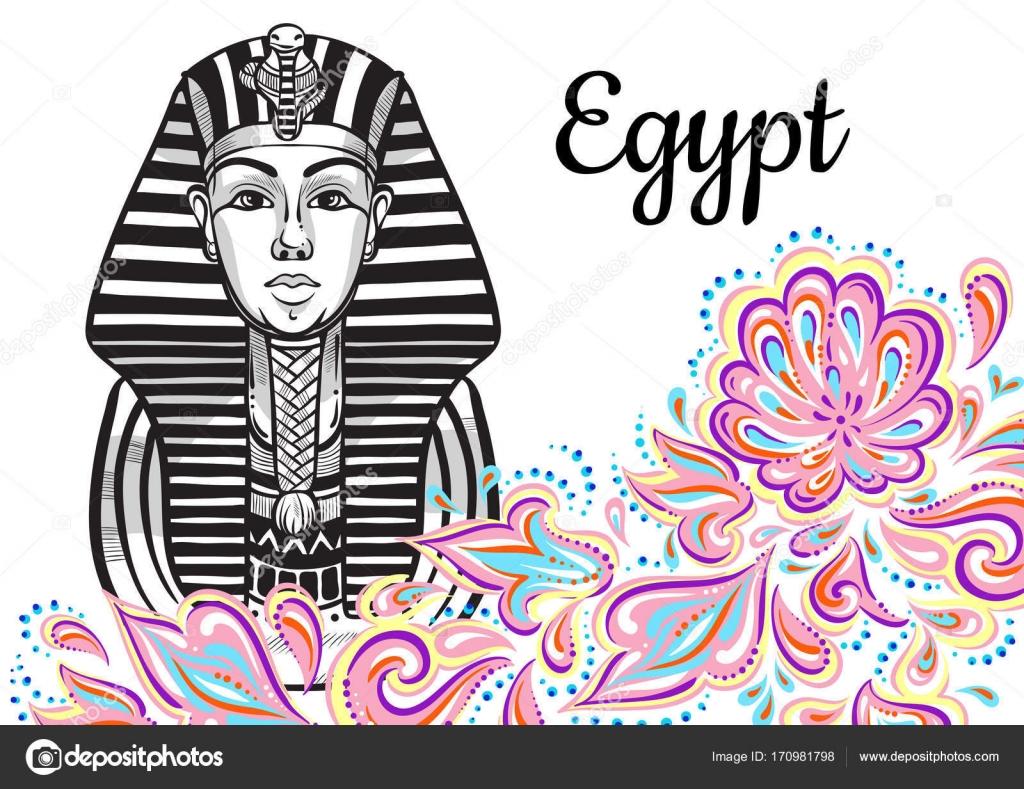 Sammlung der Welt-berühmten Wahrzeichen. Ägypten, Kairo. Goldmaske ...