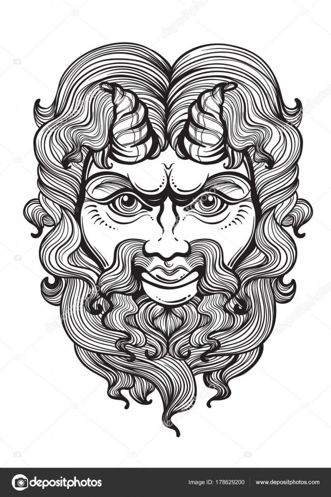Pan The God Of Fertility And Wildlife Ancient Greek Mask High
