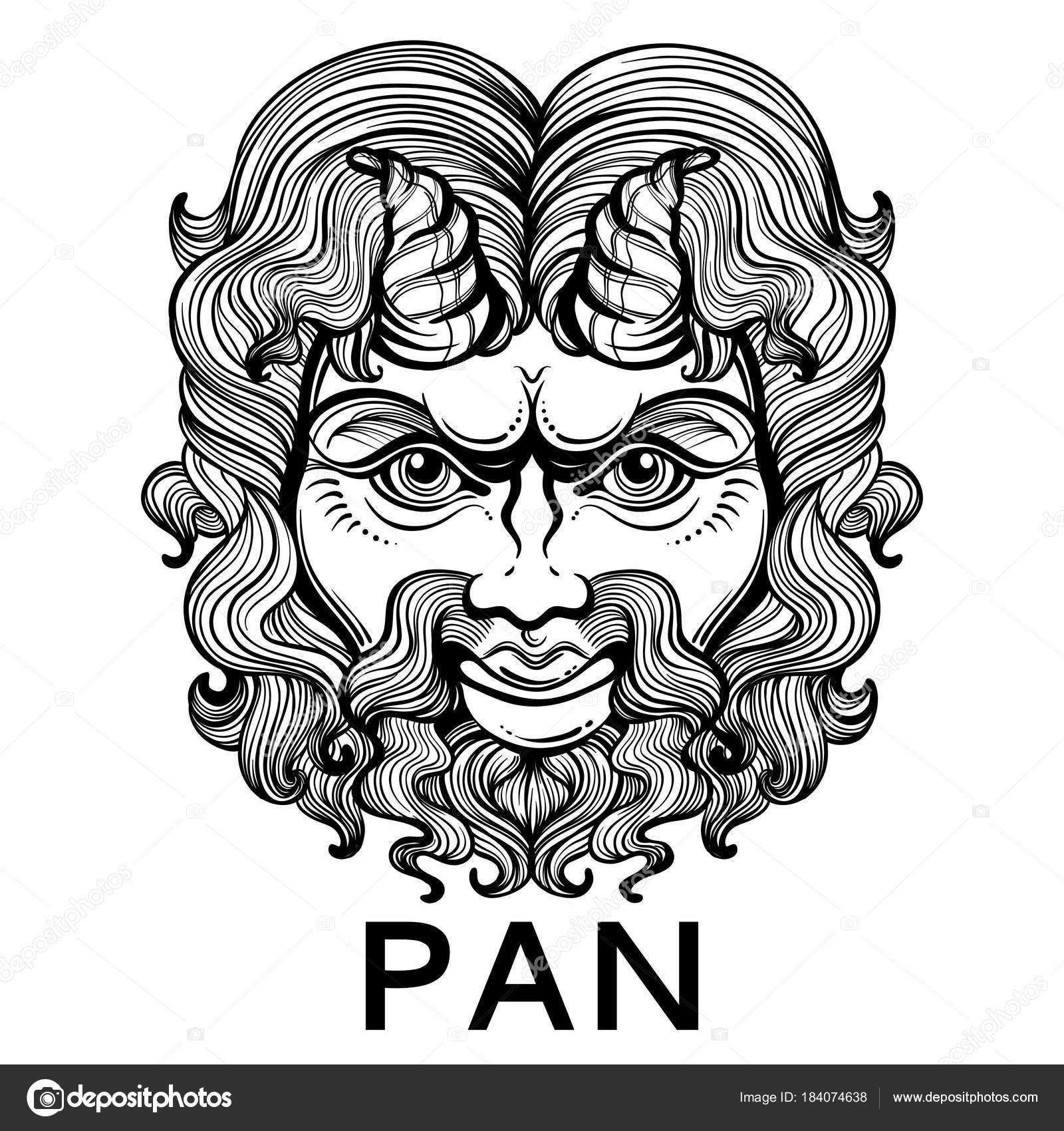 Pan Le Dieu De La Fertilite Et De La Faune Masque De Grec Antique