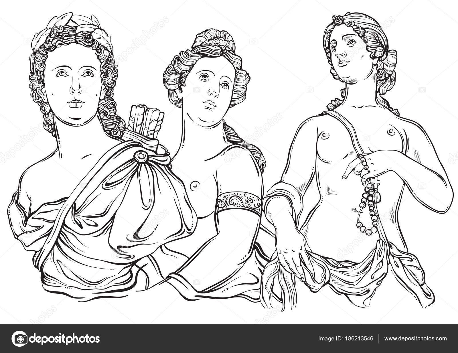 Dioses griegos hermosa. Los personajes mitológicos de la antigua ...