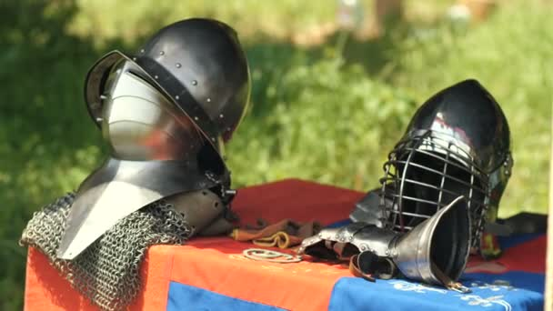 Helms of medieval knight