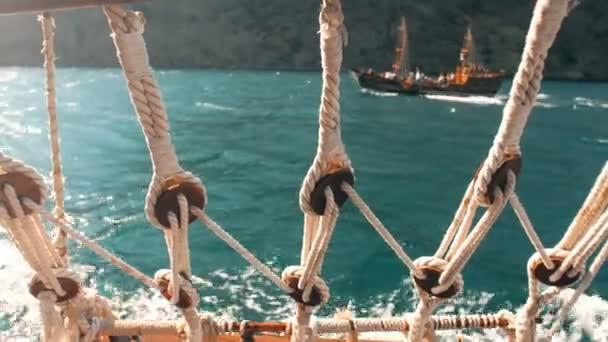 Pohled z lodi na moři