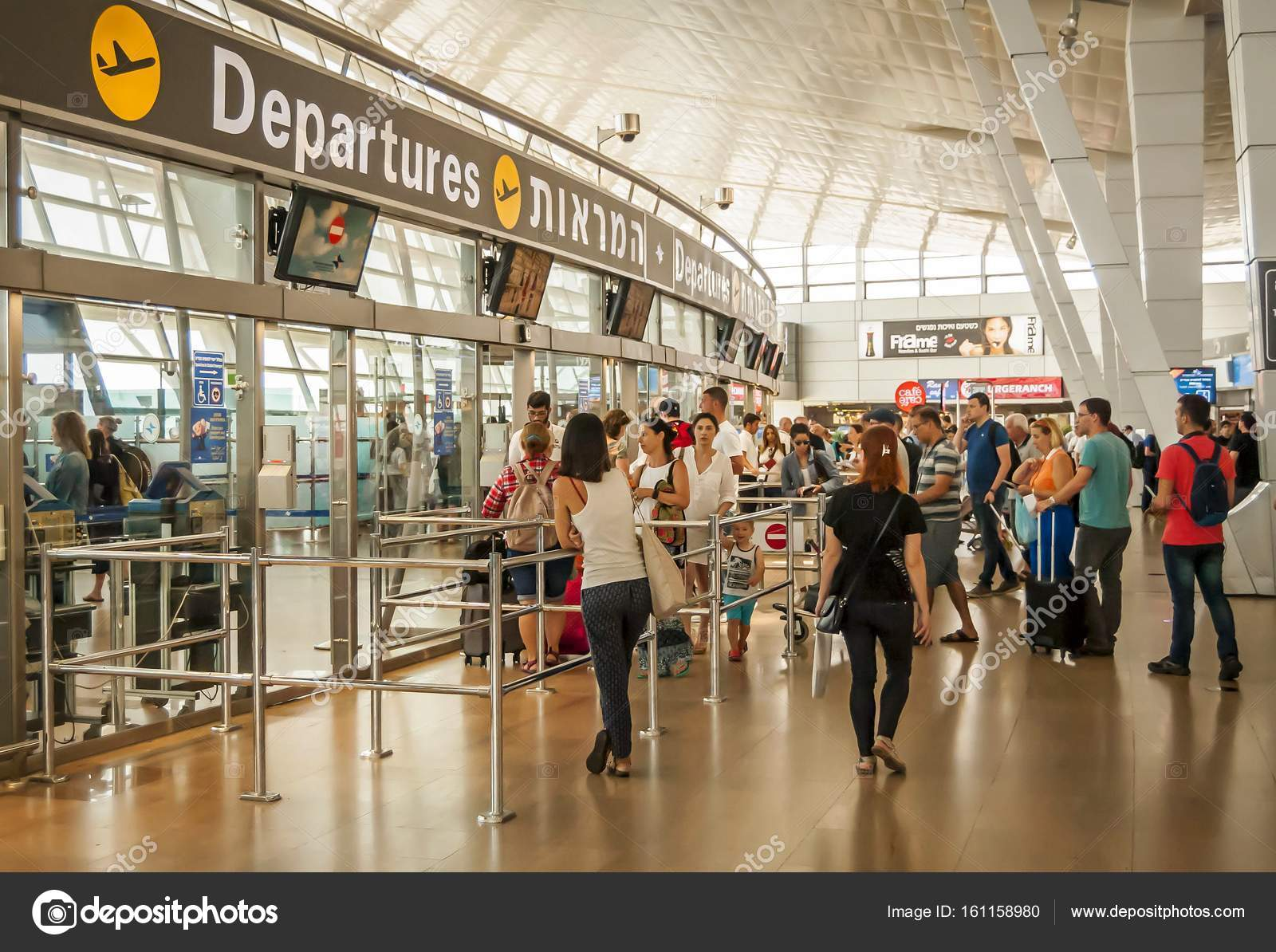 Departure Zone In The Ben Gurion Airport Stock Editorial Photo C Roman Yanushevsky 161158980