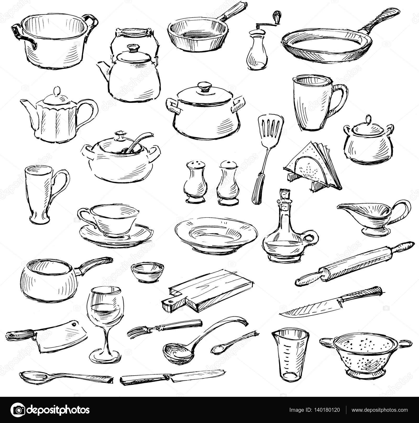 Dibujos Utensilios De Cocina Dibujos De Utensilios De Cocina