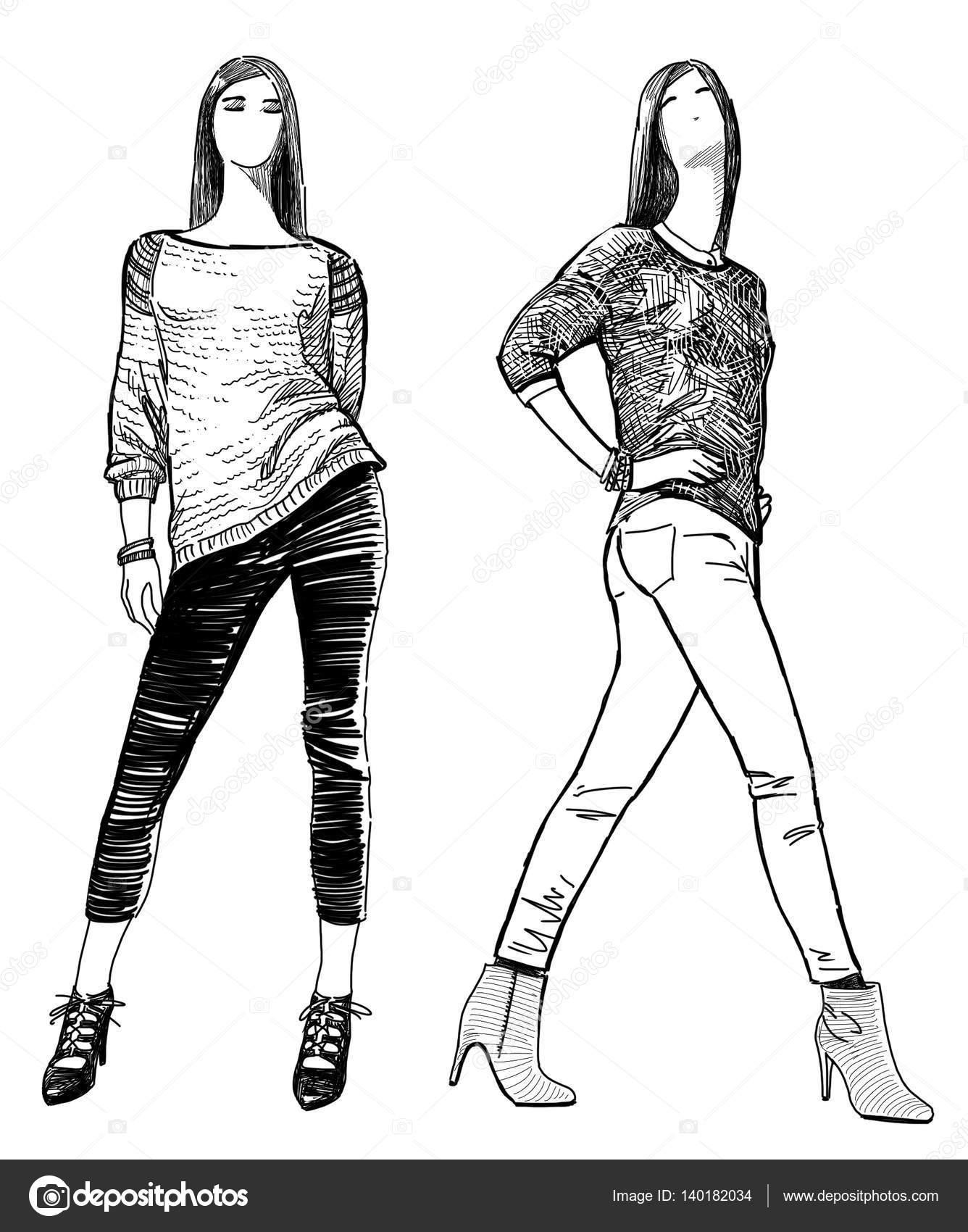 Dibujos Mujeres Modernas Dibujos De Las Chicas De Moda Joven