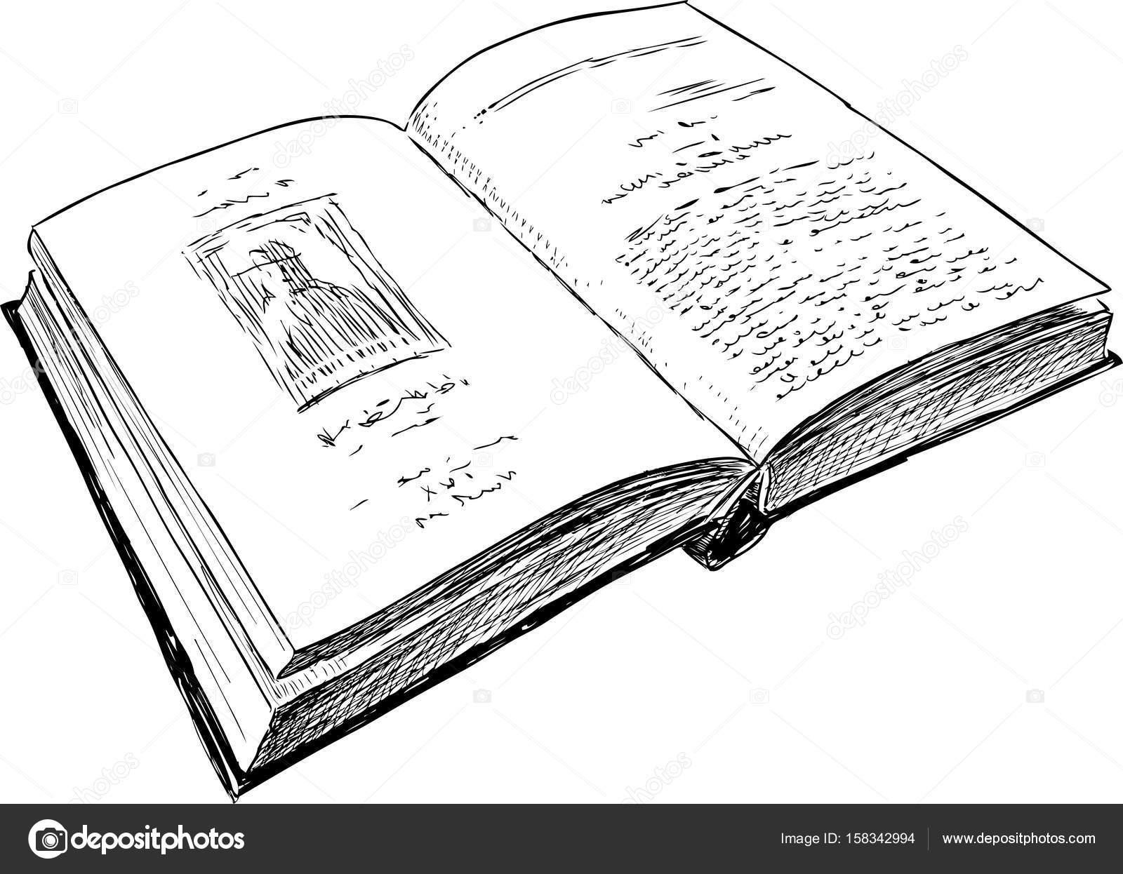 Dessin D Un Livre esquisse d'un livre ouvert — image vectorielle mubaister@gmail