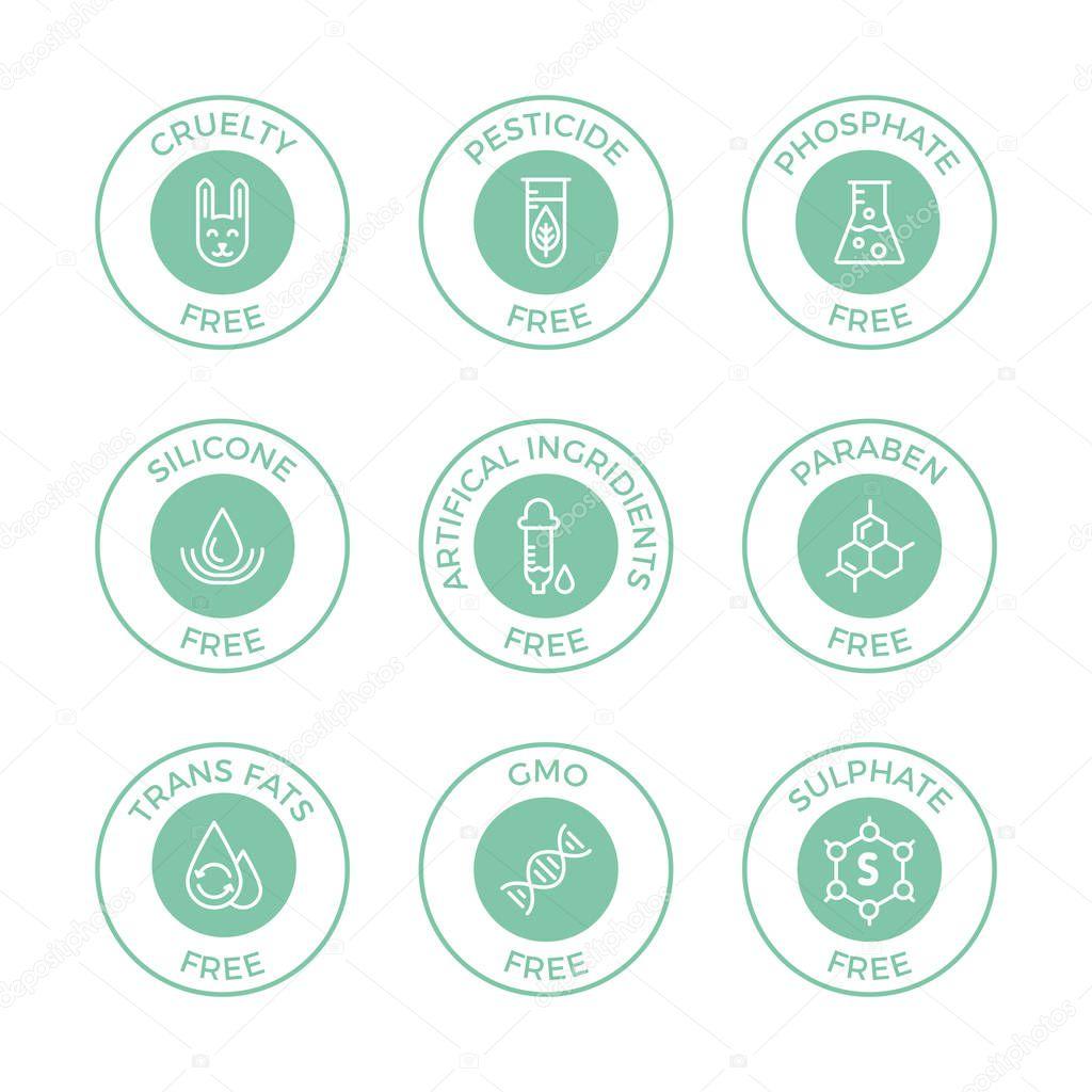 Set of eco badges.