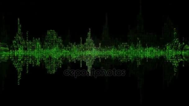 Digitální Waveform zelené pozadí v4
