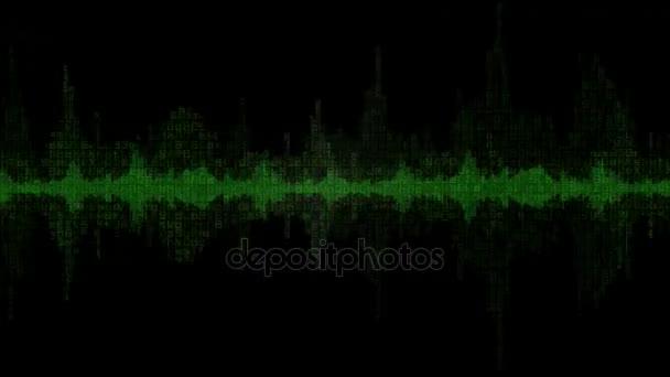 Digitální Waveform zelené pozadí v6