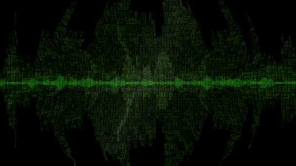 Digitální Waveform zelené pozadí v11