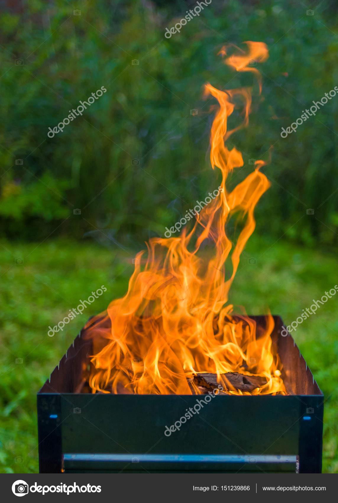 Feuer In Der Feuerschale Stockfoto Alexbr 151239866