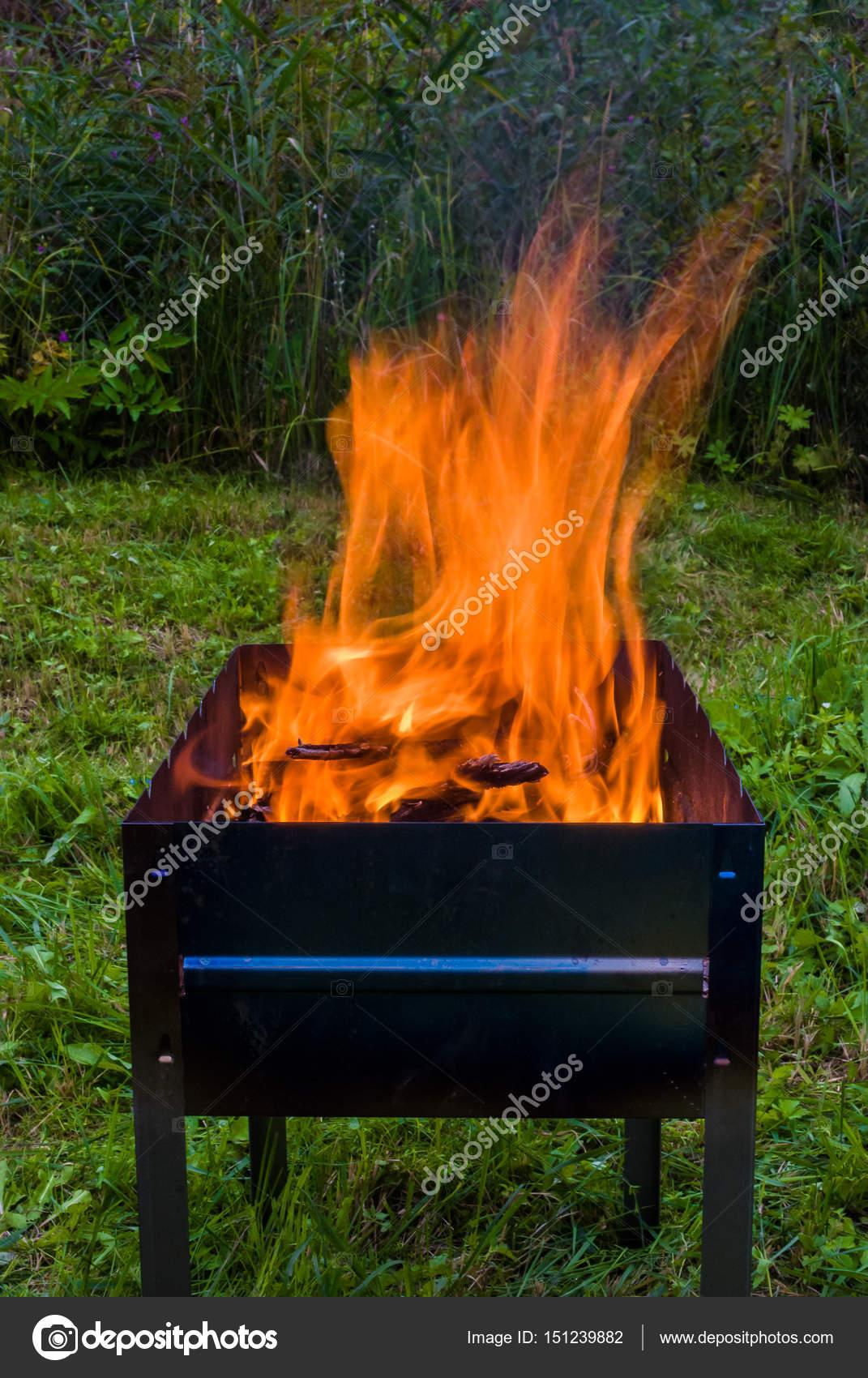 Feuer In Der Feuerschale Stockfoto Alexbr 151239882