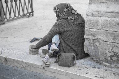 Beggar with a child