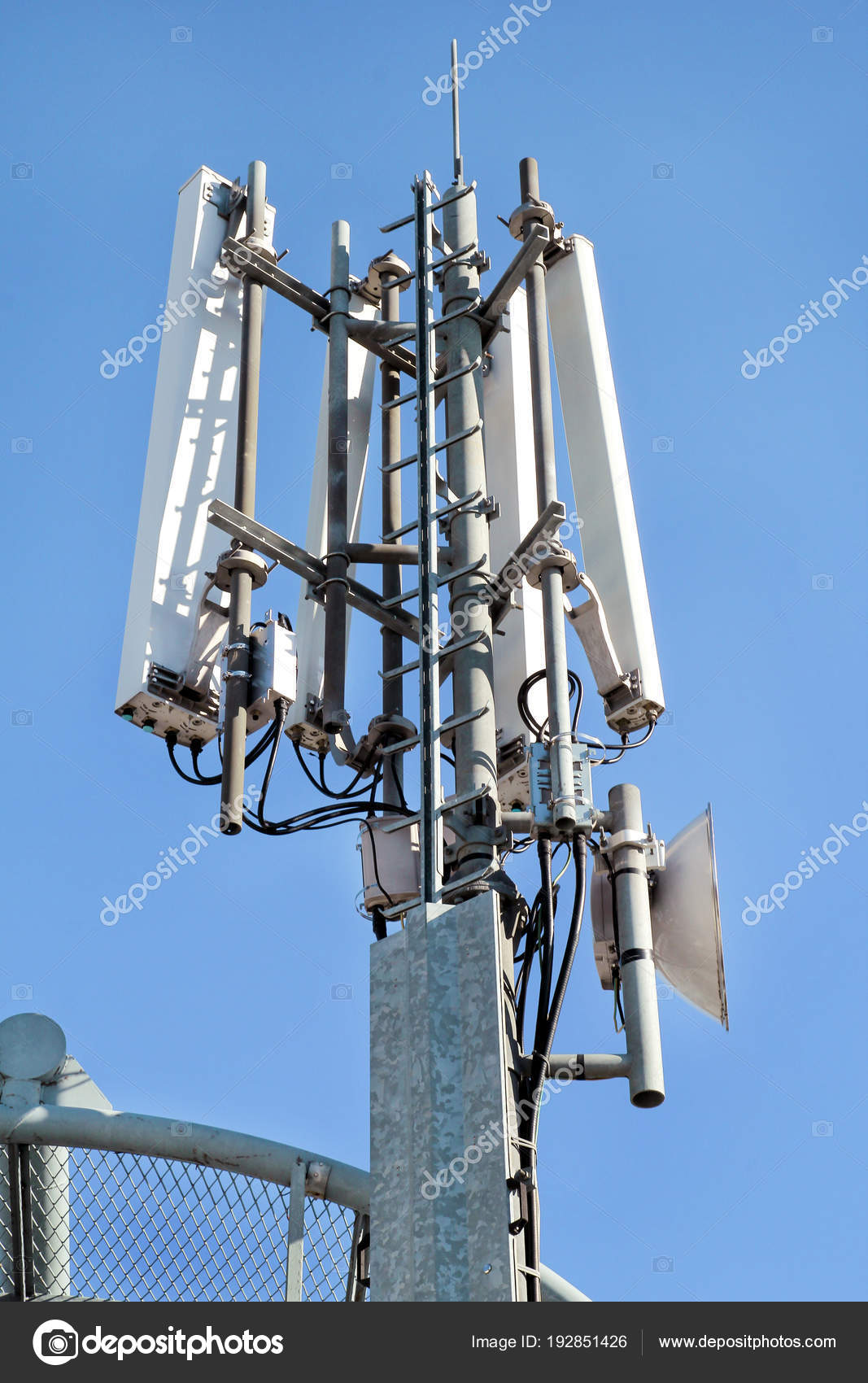 Telecommunication network repeaters  Antenna tower and repeater of
