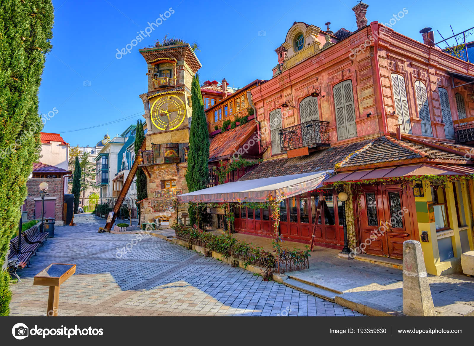 Georgia Georgian Police Stock Photos Georgia Georgian: Old Town Of Tbilisi, Georgia