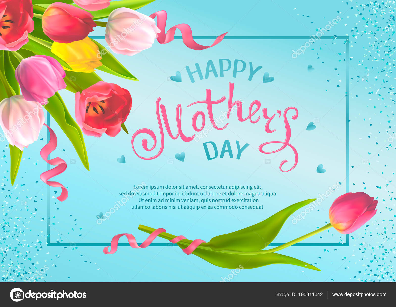 Greeting Cards Mothers Day Stock Vector Ledelena 190311042