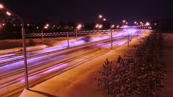 Winternachtautobahn